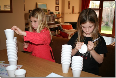 "making our ""67"" cups"
