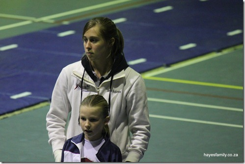 getting ready with assistant coach Shannon