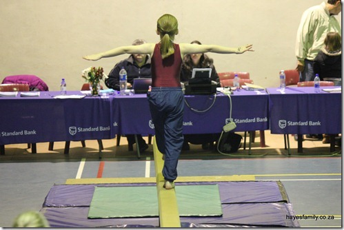 practising on beam